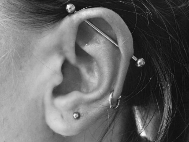 perçage, piercing, jewelry, industriel