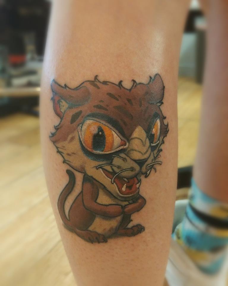 tattoo, tatouage, new school, studio tentation, montréal, cartoon tattoo,