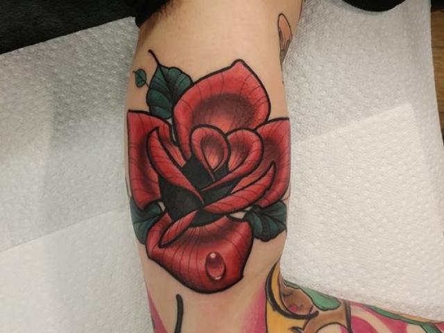 tattoo, tatouage, studio tentation, montreal tattoo, tattoo artist, color tattoo, psychedelic art, color tattoo, new school, rose tattoo