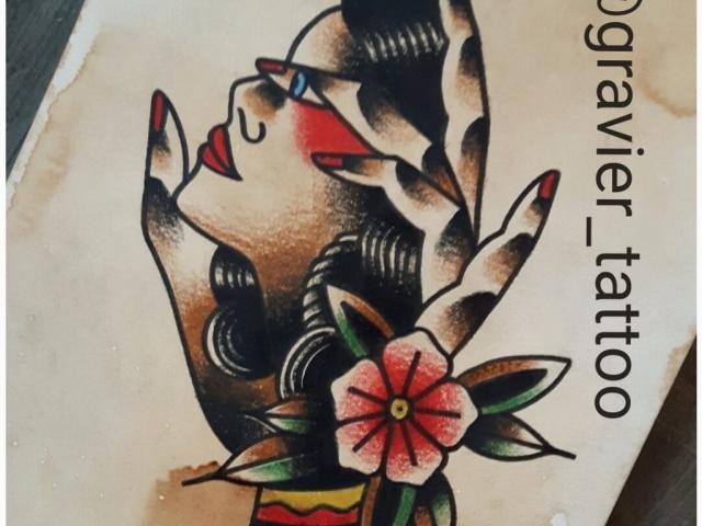 tattoo, tatouage, old school, studio tentation, montréal